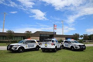 Fort Pierce police car outside headquarters